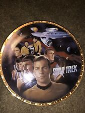 """Star Trek """"The Crew"""" Limited Edition Porcelain Collectors Plate"""