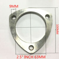 """2.625/"""" Pipe FX55 2 5//8/"""" ID Flat Triangle Three Bolt Exhaust Flange For 2.5/"""""""