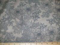 "108"" X 108"" Quilt Fabric Backing Floral Bouquet Tonal Blender Light Brown"