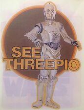 Original 1978 Star Wars See Threepio C-3Po Hot Peel Iron On Transfer Droid