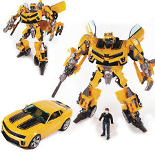 Transformers Transforming Bumblebee Roboter Auto ACTION FIGURE und Sam Spielzeug