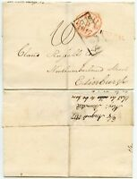 GB KENDAL MILEAGE in RED 1817 WRAPPER to SCOTLAND + BOXED ADDL.1/2