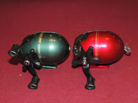 Lot of 2 Really Nice Zebco Adventure Spincast Reels, Both Work Great, Right Hand