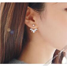 Sexy Ohrringe 1 Paar Ear Rings Gold Blume Ohrstecker Damen Zirkon Luxus FERANI