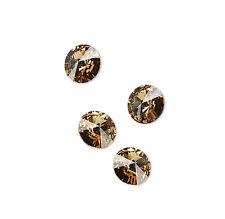 4 Lt Colorado Topaz Swarovski Crystal Foiled 1122 Rivoli Stone Beads 14MM