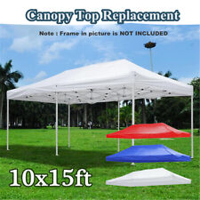 10x15ft EZ Up Canopy Top Replacement Tent Patio Gazebo Canopy 420D Sun Shade