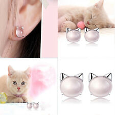 Beautiful And Hot Silver Plated Powder Crystal Stud Earrings For Femininity