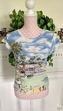 Take Two Clothing Co. cotton embellished cap sleeve Small knit top beach resort