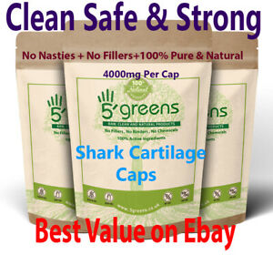 Shark Cartilage 4000mg Capsules Ultra High Strength Effective Caps