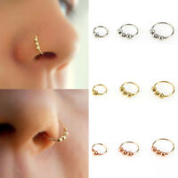 Nose Ring Eyebrow Cartilage Tragus Septum Helix Lip Earring Hoop Stud Ear Cuff