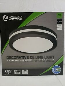 "LITHONIA LIGHTING 11.836"" LED Ceiling Light-Bronze-17W- OLCFM 15 DDB M4"