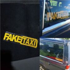2Pc FAKE TAXI Car Sticker FakeTaxi Decal Emblem Self Adhesive Vinyl Car Decor