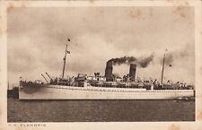 Postcard Ship SS Flandria Koninklijke Hollandsche Lloyd