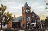 Traverse City Michigan~Baptist Church & Neighbors~1912 Postcard