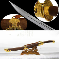"""High quality Chinese sword """"qing dao"""" carbon steel blade alloy fittings"""