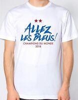Allez les bleus! Champions Du Monde WHITE T-Shirt - France French World Cup