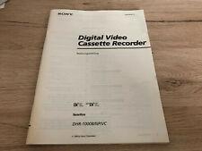 Originale Sony Bedienungsanleitung für DHR-1000 Deutsche Sprache