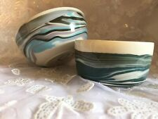 HEBRIDEAN POTTERY BOWLS Handmade Isle Of Lewis Shades of The Sea