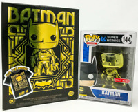 Gold Chrome Batman Funko Pop Vinyl New in Sealed Box + Medium T-shirt