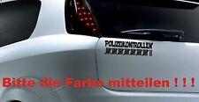 Auto Aufkleber: Polizeikontrollen Fun Sticker Polizeikontrolle AA-2012-0053