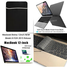 "4 in 1 Newest Apple Macbook Soft Touch Case,12"" inch Retina Display Laptop Cover"