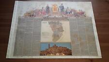 1875 MAPA Provincia de Lerida, Miguel Ferrer y Garces, Cromo Boronat y Satorre