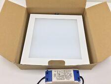 Foco LED Encastrado Fijo NOVALUX Slim Carre 20W 3000k 220-240v 230x230mm