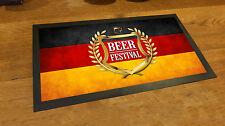 Golden Crest Beer Festival Beer Label Germany Flag bar runner mat