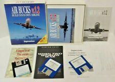 Air Bucks v.1.2 Build Your Own Airline PC Game Big Box COMPLETE Game Rare Works