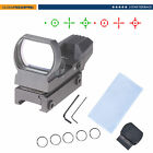 Tactical Rifle Scope Holographic Reflex Red Green Dot Sight Reticle w/20mm Rail