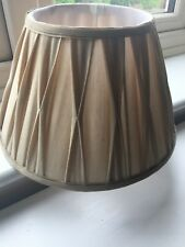 LOVELY CREAM SILK BLEND LAURA ASHLEY PLEATED SHADE 8INCHES X 12.5INCHES DIA