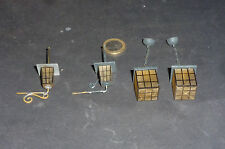 Alte Lampen / Hängelampen aus Glas für Puppenstube / Puppenküche
