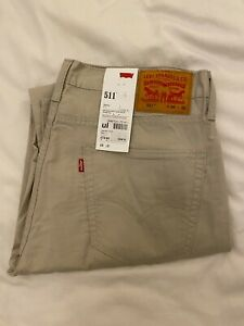 Levi's 511 - Mens Jeans - Tan - W36 L32 (36R) - New & Unworn - Levi Strauss