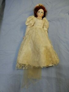 Antique Reproduction Seeley Doll Body USA Bride with Jewelry.
