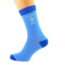 Dos Tonos Azul Calcetines Unisex confía en mí... yo soy un Mason (con g) UK Size 5-12 X6N631