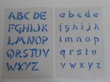 Schablone Stencil Buchstabensatz1 für Textil Airbrush Wanddeko u.v.m auf A4
