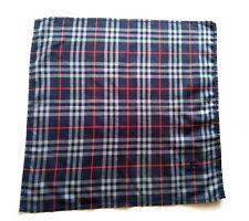Burberrys Bandana Pocket Square Handkerchief Neckerchief Nova Check Blue