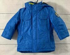 Carters Toddler Boys Blue Winter Coat with detachable...