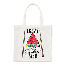 Crazy Snooker Man Regular Tote Bag Funny Sport
