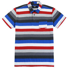 Beautiful Giant Men's Striped T-shirt Cotton Exercise Dailywear Grey/Red Size L