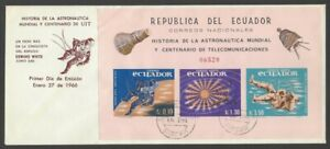 Ecuador 1965 UTI Telecommunications imperf S/S FDC