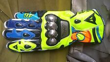 VR 46 Motorcycle Motorbike Leather Racing Gloves all sizes available