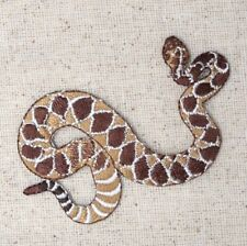 Diamondback Rattlesnake - Snakes - Reptile - Iron on Applique/Embroidered Patch