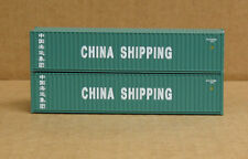 2 Walthers #8151, Upgraded Ho 40' rib side containers, China Shipping