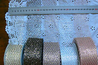 Metallic MESH - SILVER-PINK-BLACK-LAVENDER-GOLD 3 Metres 50mm Wide MBW MultiList