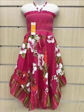 Vestiti rosa estate per bambine dai 2 ai 16 anni 100% Cotone