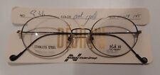 Vintage Deja Vu 836 Antique Gold 51/18 Metal Eyeglass Frame NOS  #245