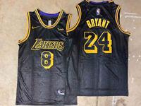 Los Angeles Lakers Kobe Bryant 8 Front & 24 Back Black Mamba City Edition Jersey