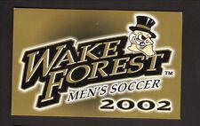 Wake Forest Demon Deacons--2002 Soccer Pocket Schedule