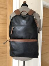 FOSSIL EVAN 100% LEATHER BACKPACK BAG RRP £299